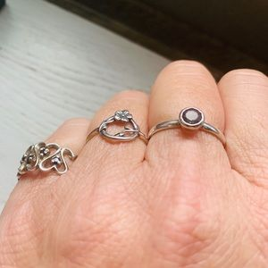 Bundle of Sterling Silver Rings.